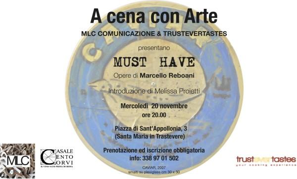 A cena con l'artista a TRUSTEVERTASTES con Marcello Reboani