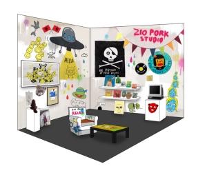 Laurina Paperina, Zio Pork Studio, 2014, Installazione - Courtesy: Studio d'Arte Raffaelli