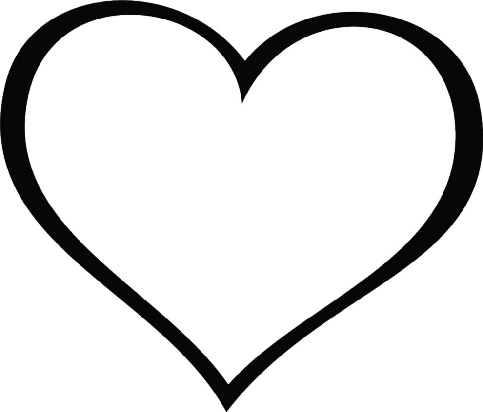 Disegno di cuore gigante da colorare viaggioscrivoamo for Disegni da colorare con cuori