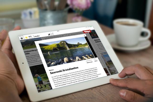 La nuova app del Tirolo su tablet © Tirol Werbung